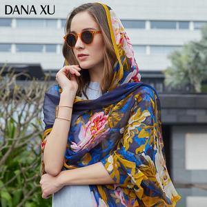 Image 2 - 2019 실크 롱 스카프 럭셔리 브랜드 여성 새로운 디자인 비치 담요 숄 착용 수영복 두건 Hijab 얼굴 방패 풀라 245*110cm