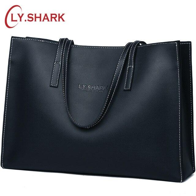 LY SHARK Luxury Handbags Women Bags Designer Ladies Genuine Leather Bags Shoulder Bags Large Capacity Tote