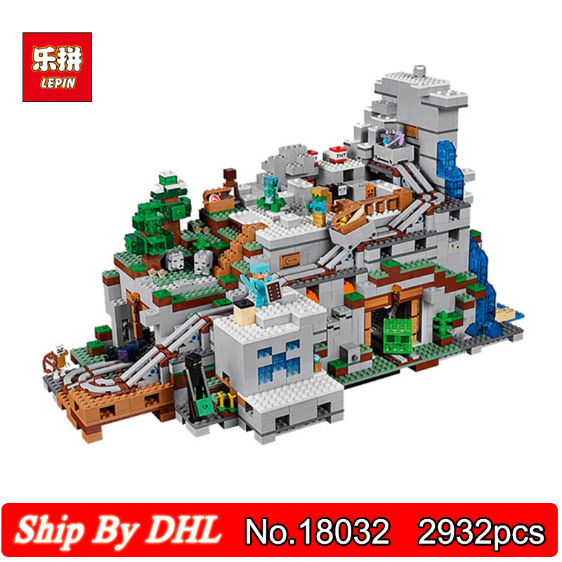 Lepin 18032 The Mountain Cave worlds Production workshop 2932pcs Building Block Bricks Children Assembling Toys 21137 the mountain shadow