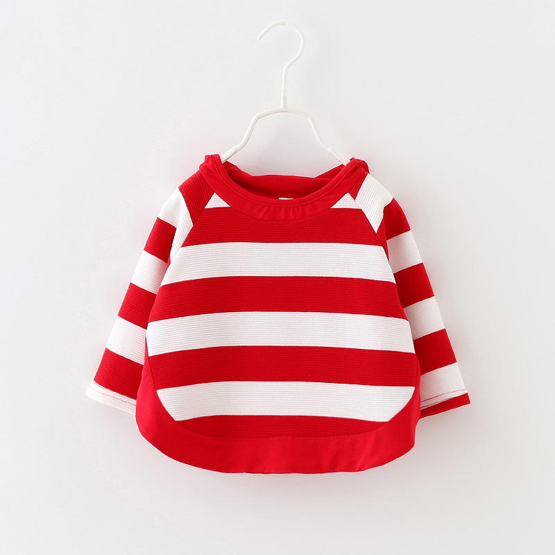 2017-autumn-children-Baby-new-casual-long-sleeve-striped-cartoon-hooded-cotton-Sweatshirt-for-Girls-1-3-Years-2