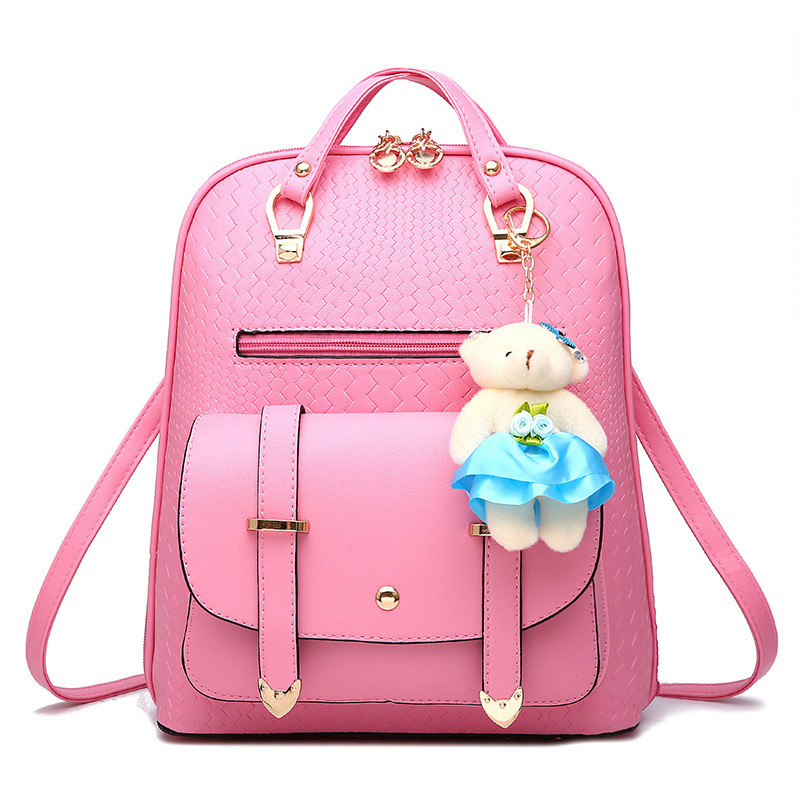 2017 Newest Design Bags for Female Classic Leisure Fashion Sweet Girls Korean Style Backpack Solid Color