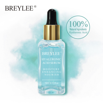 BREYLEE HA Hyaluronic Acid Serum Facial Moisturizing Essence 100 Natural Ingredients Face Skin Care Nourishing Ageless