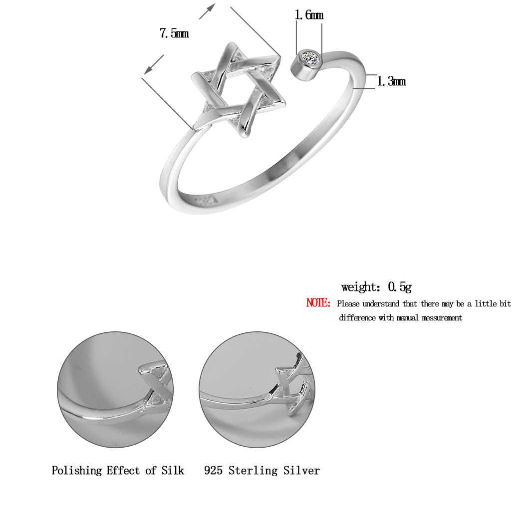 Винтажное серебряное кольцо со звездами для женщин кольцо с сеткой Регулируемая дружба лучший друг подарки на выпускной
