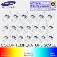 20Pcs High Power T10 LED Light White Super Bright 1 5W W5W 194 192 168 DC