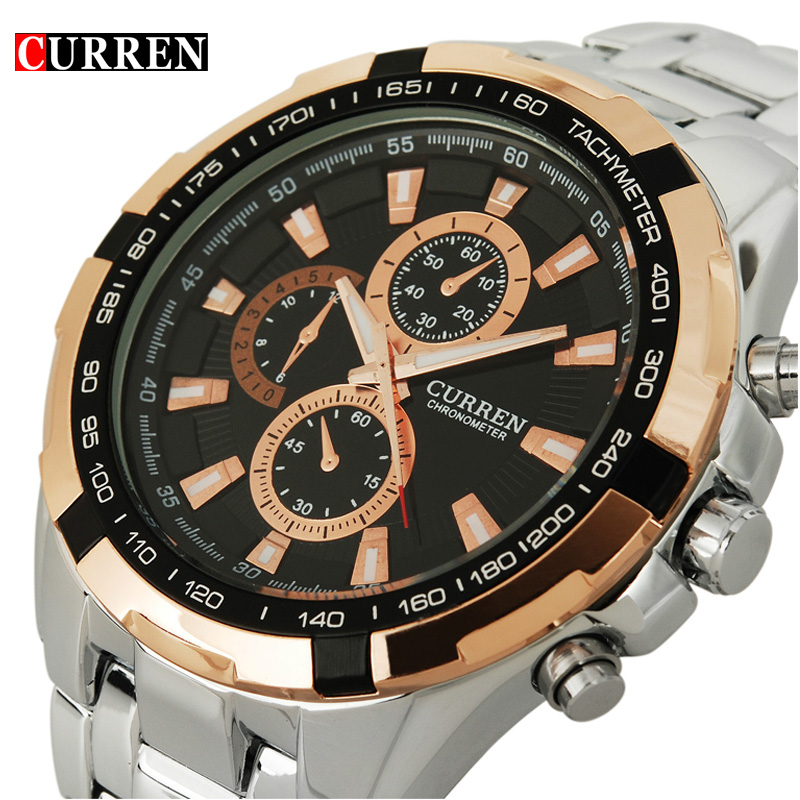 2017 Curren Brand fashion Quartz Watch men full steel Clock Male Wrist watch waterproof Relogio Masculino