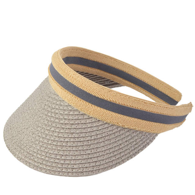 7442b560e1b7d Online Shop HISSHE Sun Shade Straw Visor Golf Hat New Arrivals Fashion  Empty Top Hat Sun Hats Solar Protection Visor Hat