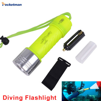 2100LM Band XML-T6 LED Lanttern Waterproof Underwater Scuba Dive Diving 18650 Flashlight Dive Torch Light Lamp For Diving scuba dive light