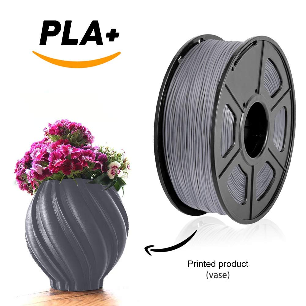 new 2019 sunlu best filament PLA plus 1.75mm 1KG/roll refills raw material plastic rods with smooth and resilient performance