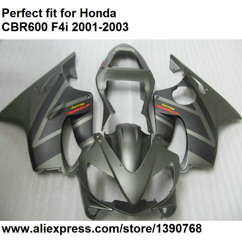Aftermarket body <font><b>parts</b></font> fairings for <font><b>Honda</b></font> CBR 600 F4i 2001 2002 2003 grey fairing kit <font><b>CBR600F4i</b></font> 01 02 03 OL121 image