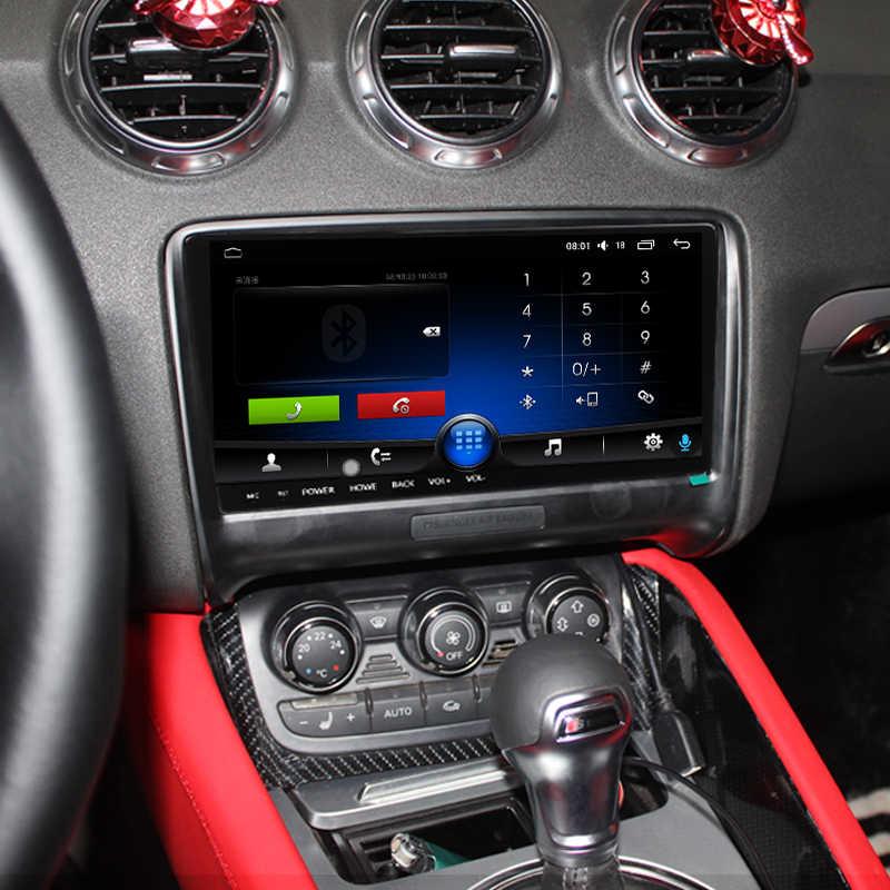 Android 8.1 9.66 player player reprodutor de vídeo multimídia do carro da tela de toque subwoofer carplay gps navi rádio automático bluetooth para audi tt