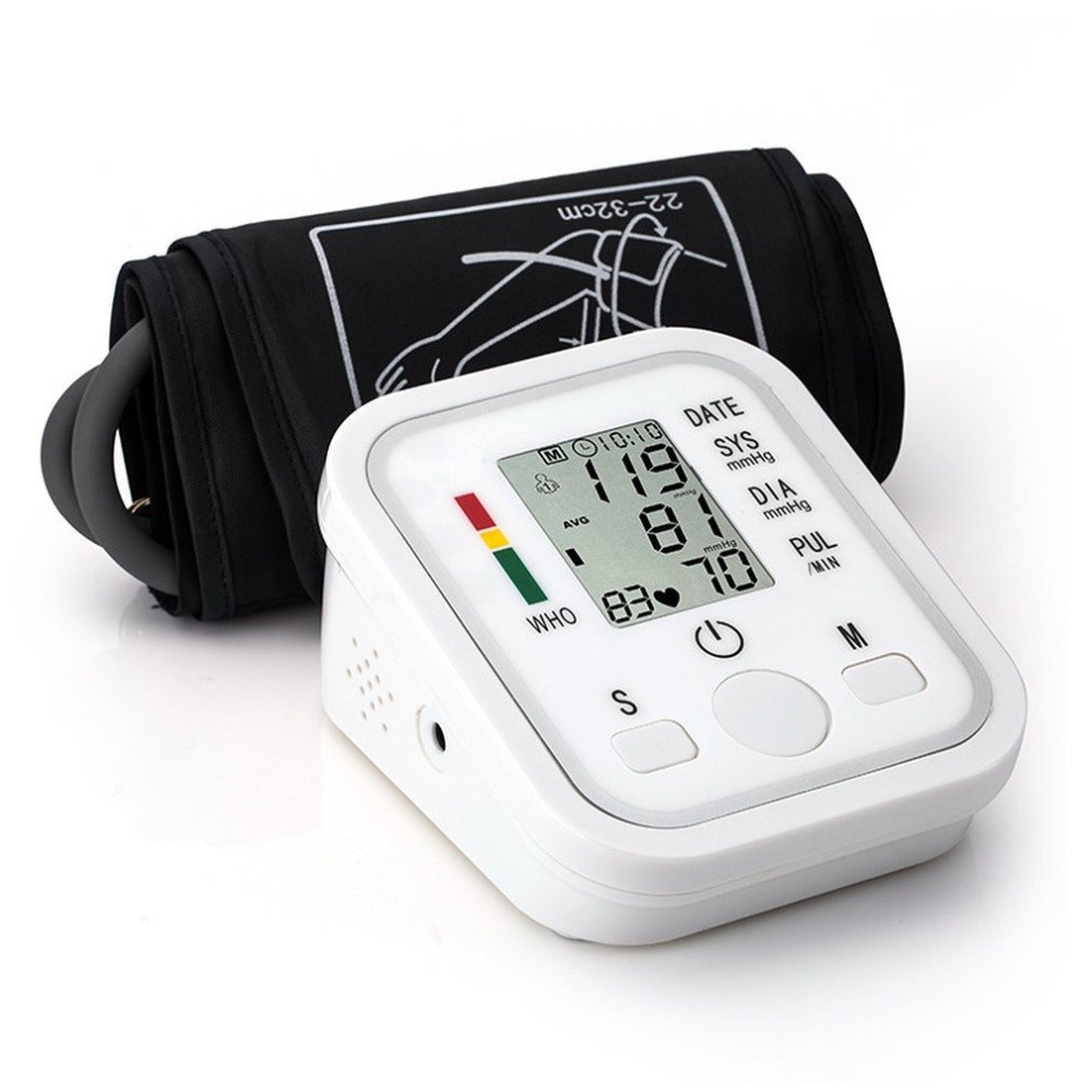 Tensiometro LCD Digital Blood Pressure Monitor Intelligent Automatic Electronic Arm Pulse Measurement Medical Pulse Oximeter