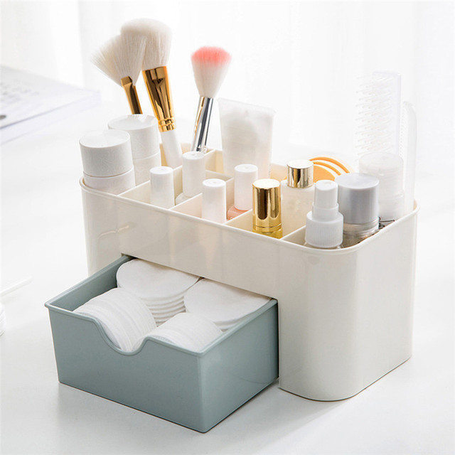Makeup Organizer Storage Box Case Drawers Cosmetic Display Jewelry Saving Space Desktop Desk Sundries Make Up Container Box J#3