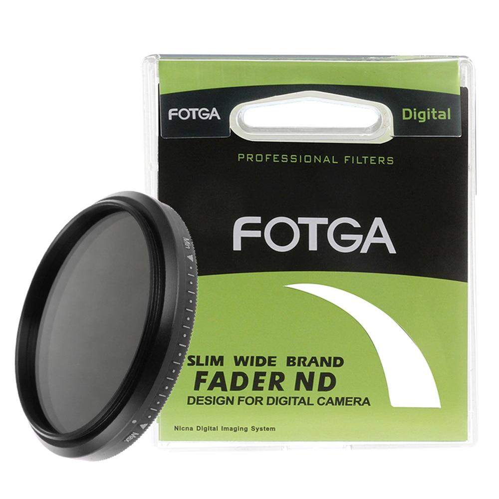 Тонкий Фейдер FOTGA 67 мм 67 ND фильтр с регулируемой переменной нейтральной плотностью от ND2 до ND400