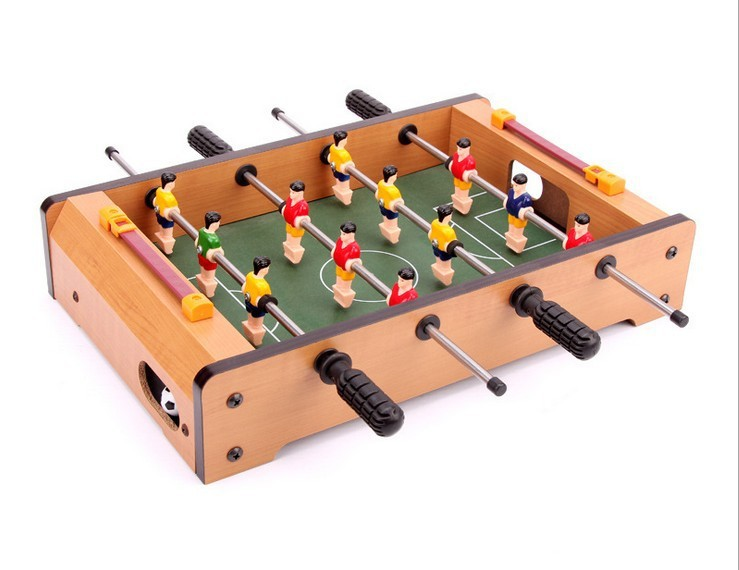 Kid's Mini Soccer Table Kids Home Toy Four Rod Foosball Family Table Game Recreation Equipment 34.5*22*7cm 36 multi function 4 in 1game table top kids toy table 4 different game soccer table tennis air hockey pool