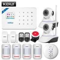 KERUI W18 433MHz 4 Language Security Alarm System Wireless 1.7 inch IOS/Android APP Control Wifi GSM Home Burglar Alarm Suits