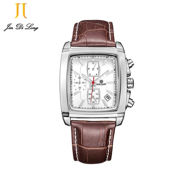 Novos Homens Relógio Do Esporte Relógios Famosa Marca De Luxo Masculino Relógio de Quartzo Relógio de Pulso Hodinky relógio de Quartzo-multi-função mostrador quadrado