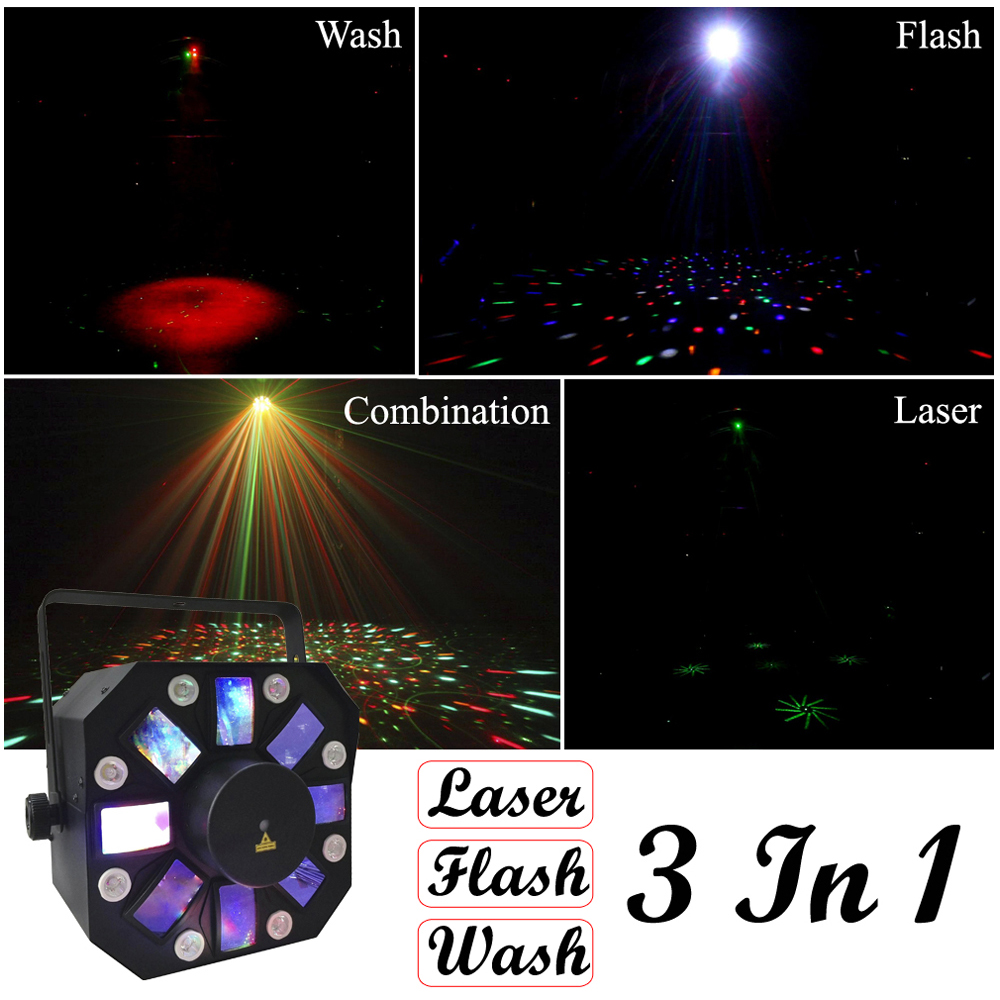 Sale 2019 Hot 8X1W White Color + 8X3W RGBWA LED Stage Effect Light USA Luminums Professional DJ Disco Shows Equipments