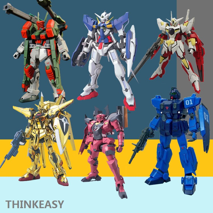 GAOGAO Gundam Model MG 1/144 Justice Freedom 00 Destiny Armor Unchained Mobile Suit Kids Toys With Holder