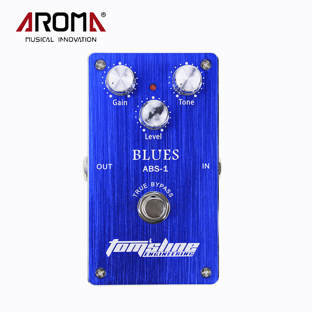 Aroma ABS-1 Blues Simulation Electric Guitar Distortion Effects Pedal Housing True Bypass aroma adr 3 dumbler amp simulator guitar effect pedal mini single pedals with true bypass aluminium alloy guitar accessories