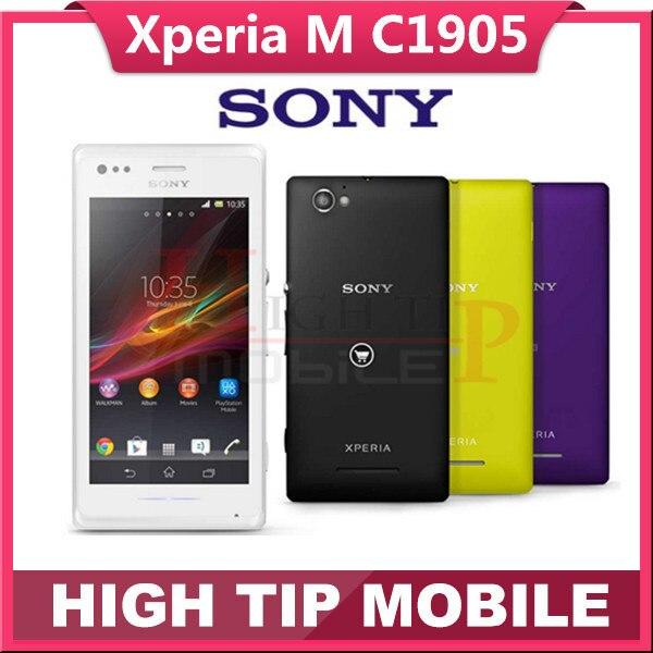 Unlocked Original Sony Xperia M C1905 Mobile Phone Dual Core 3G Android 5MP Camera Internal 4GB