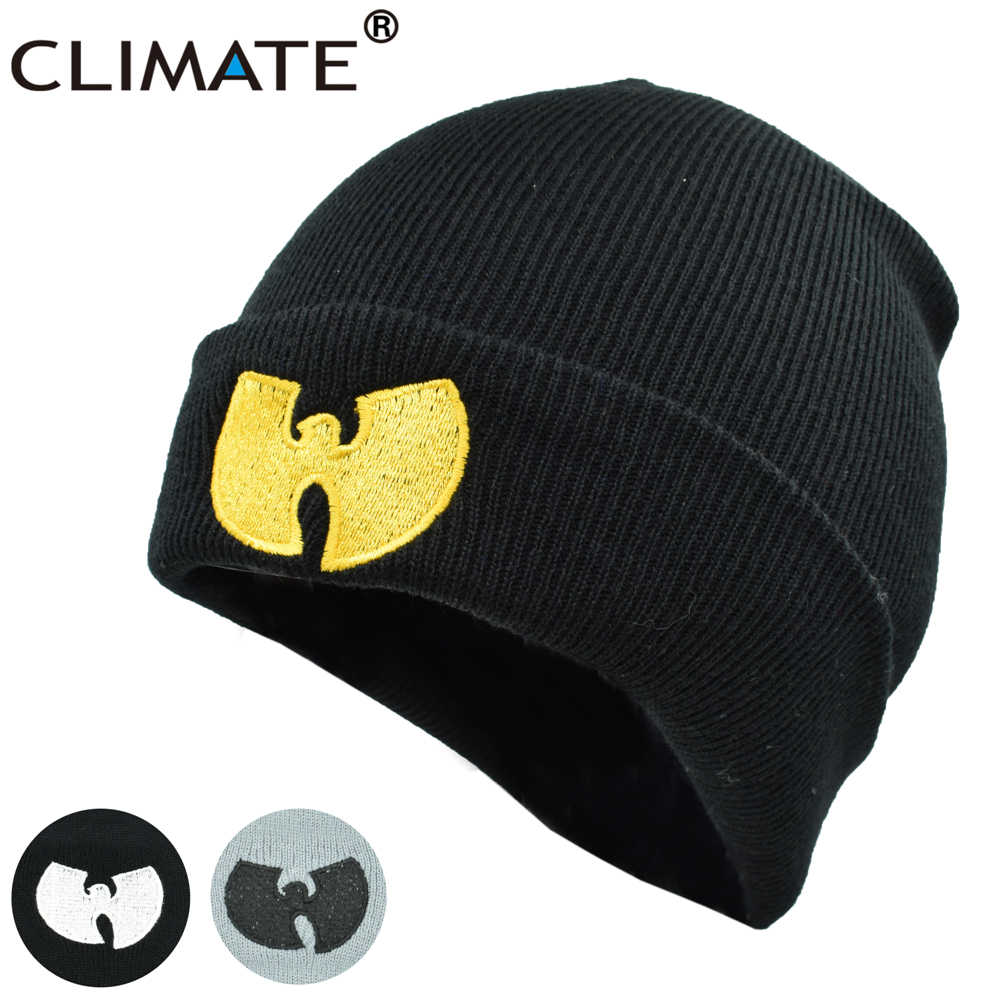 CLIMATE Men Women Wutang Winter Warm Beanie Hat Musice Skullies Knitted  Soft Wu Tang WU- dfd9f11b118