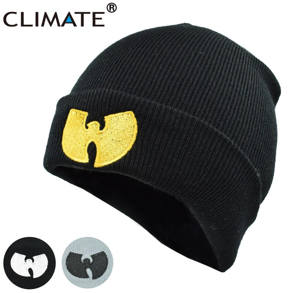 CLIMATE Wutang WU-TANG CLAN Musice Beanie Skullies Knitted Soft Men Women Wu Tang Hat HipHop Music Team Winter Warm Hats Caps