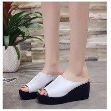 New Summer Wedge Heels Women Sandals Open Toe Fish Head Platform Shoes High Slingbacks