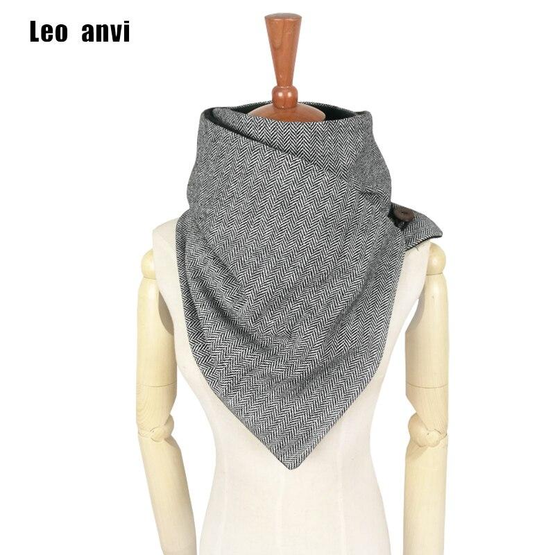 Leo anvi designer mode hiver écharpe hommes laine coton unisexe chevrons anneau écharpe foulard de tête pour femme à la main infini écharpe