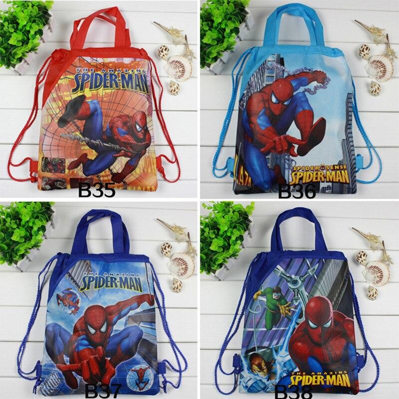 1 Pc Spider-man Sacchetto Di Drawstring Mario Zaino Scuola Per Ragazzi Supereroe Sacchetto Di Scuola Per I Bambini Del Sacchetto Del Fumetto