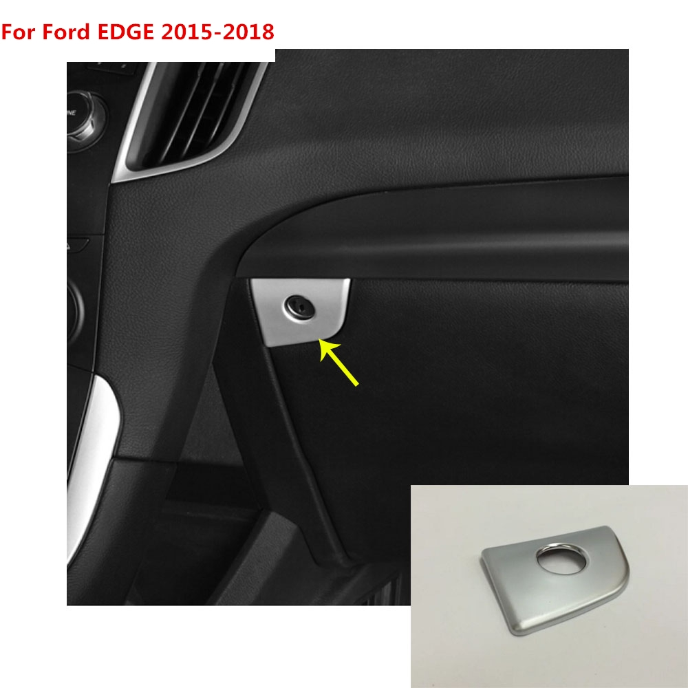 For Ford EDGE 2015 2016 2017 2018 car cover detector Hand box co pilot  Glove box front trim lamp trim panel molding 1pcs-in Interior Mouldings  from ...