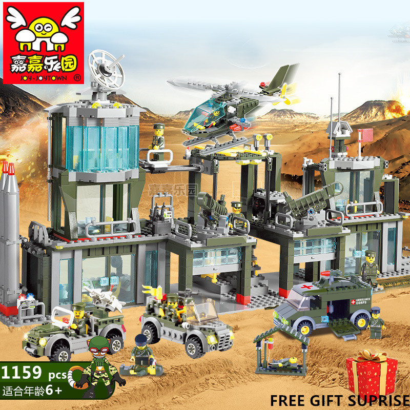 Newest Building Blocks Military Forces Marines Building Blocks 1159+pcs Bricks Block ABS Plastic Educational Toys For Children enlighten building blocks military submarine model building blocks 382 pcs diy bricks educational playmobil toys for children