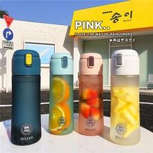 New 650 Tea Water Bottle With Fruit Infuser Flask For Women Car BPA Free Tritan Sport Bottles Plastic travel bottles