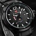 2016 Новый NAVIFORCE Бренд Moon Phase Часы Моды для Мужчин Полный Нержавеющей Стали Кварцевые Часы Мужчины Водонепроницаемый Спортивные Часы