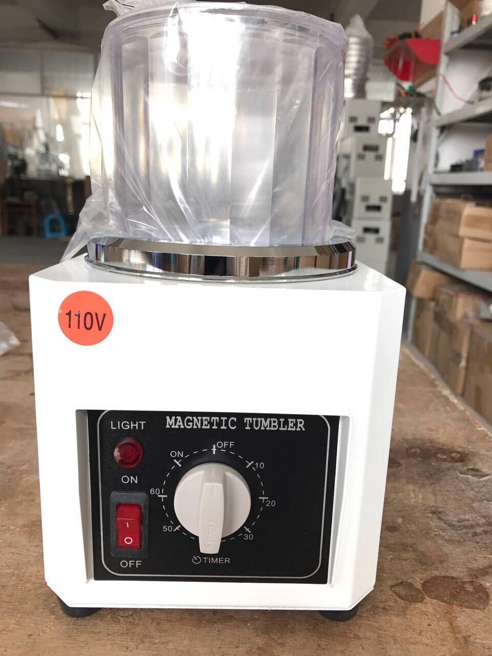new Tumbler Jewelry Polisher Finisher Finishing Magnetic Polishing Machine BHL