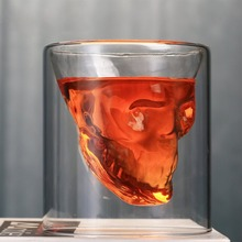 3 sizes Two ways Shot Transparent Crystal Skull Head Glass Cup For Whiskey Wine Vodka Bar Club Beer 25ml~150ml Gift