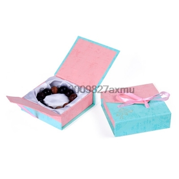 100PCS Jewelry Box Bangle Jewelry Ring Earring Watch Gift Carton Box Bowknot Case Package makeup organizer Carring Case