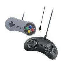 2 unids/lote Controlador de Juego Para Nintendo SNES/Sega Classic USB Gamepad Para PC MAC Juegos para Win98Windows7/8