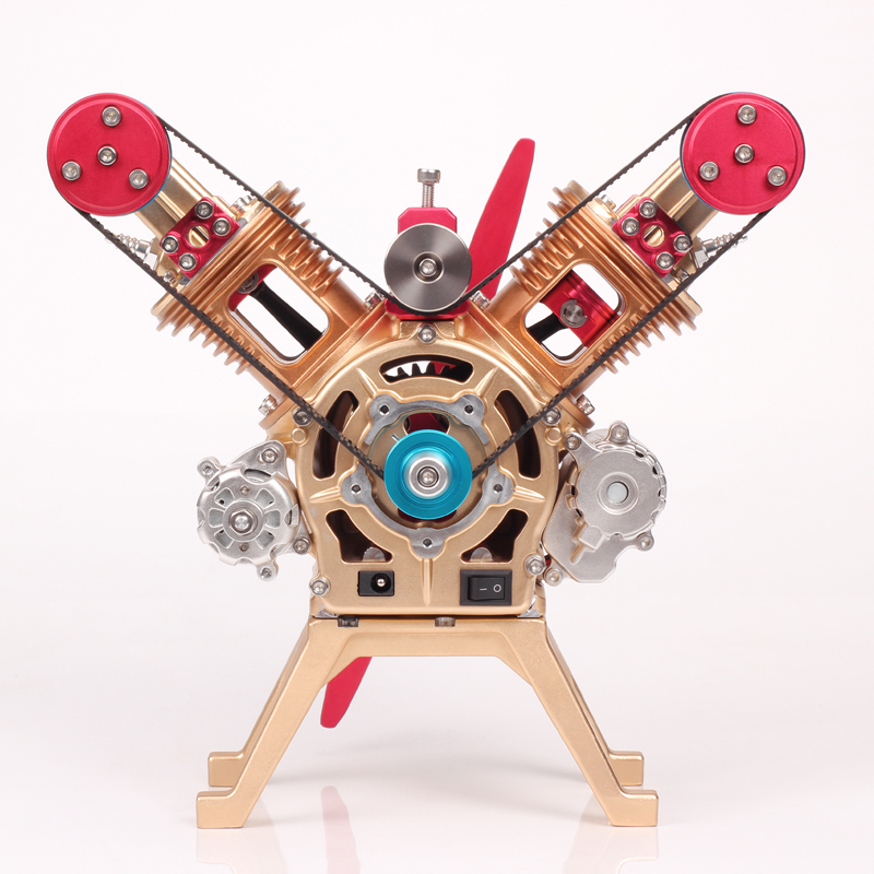All-metal aircraft engine model Scientific research Educational science gift