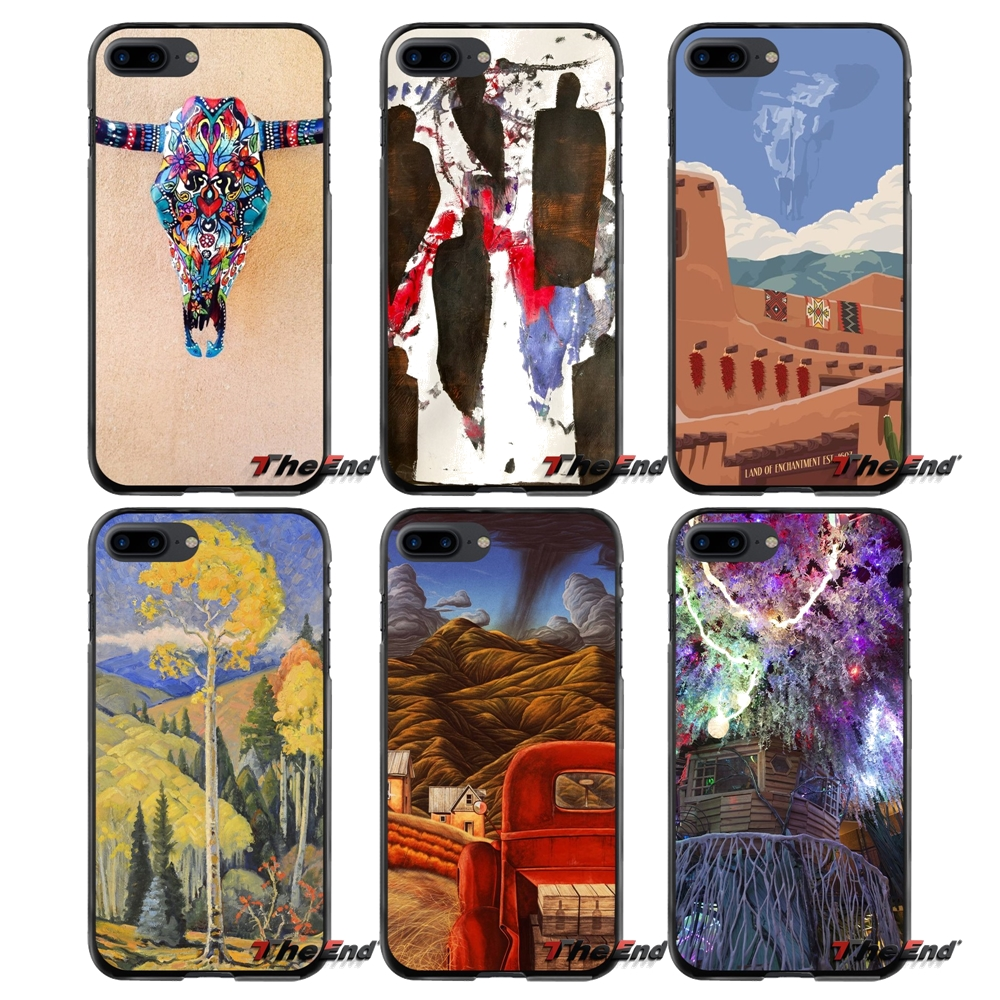 Accessories Phone Shell Covers For Apple iPhone 4 4S 5 5S 5C SE 6 6S 7 8 Plus X iPod Touch 4 5 6 Santa Fe art