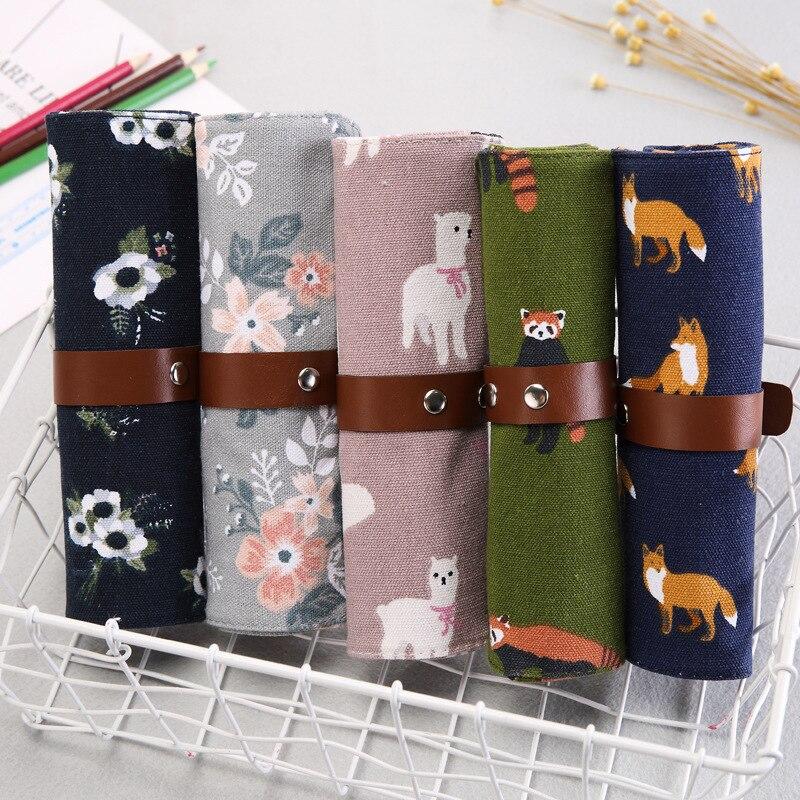 Vintage Cute Soft Plush Pencil Pen Case Novelty Makeup Cosmetic Pouch Bag Zipper Levert Dropship 2jul12 Fashionable Patterns Home Storage & Organization