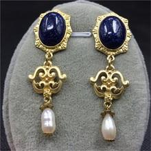 Nueva moda hipérbole cosecha de perlas Rhinestone pendientes de gota de la borla de Swing Party mujeres hechos a mano accesorios de la joyería de la novia de regalo