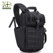 K&D 25L Outdoor Sports Tactical Backpack For Camping Hiking Climbing Men's Nylon Bag Single Shoulder Bag Military Dry Rucksacks