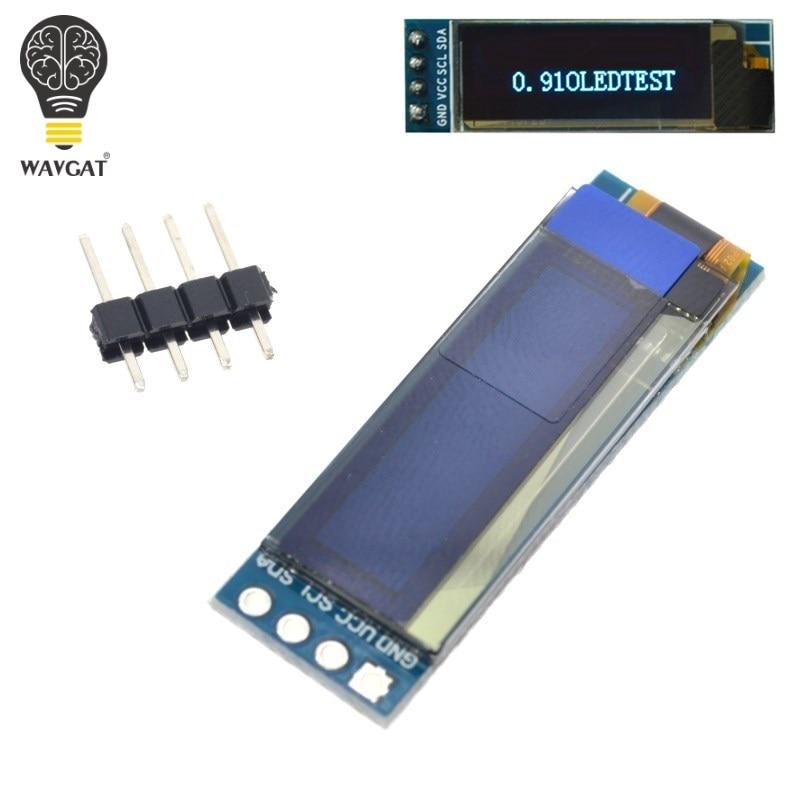 """WAVGAT 0.91 Inch OLED Module 0.91"""" Blue White OLED 128X32 OLED LCD LED Display Module 0.91"""" IIC Communicate"""
