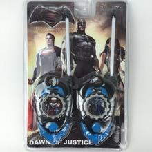 2pcs/set Superman Batman Toy Interphone Dawn Of Justice Children Game Intercom Electronic Toys Walkie Talkies For Kid Gifts #E