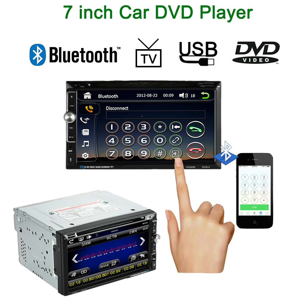 Steering Wheel Control 2 Din Car DVD Player 7 Inch Touch Screen Multimedia Car Autoradio for VW Audi Toyota Volvo GMC BMW 2 din car radio mp5 player universal 7 inch hd bt usb tf fm aux input multimedia radio entertainment with rear view camera