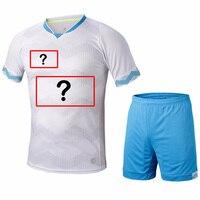 Can Customized Football Jerseys Mens Short Sleeve Soccer Sets Football Training Jerseys Sports Kits Jerseys Suit