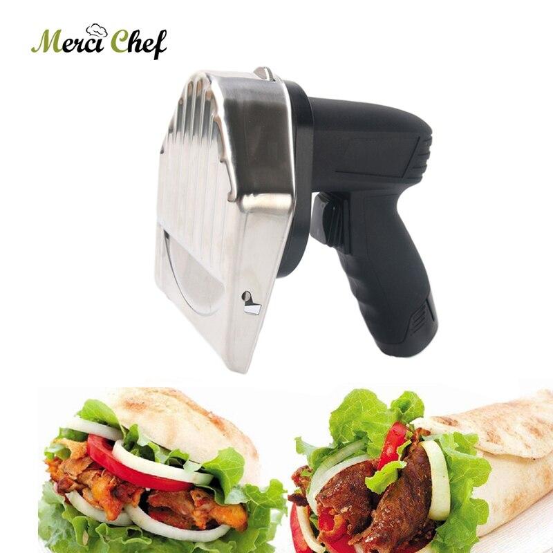 Слайсер для кебаба из нержавеющей стали нож для мяса шаурма Донер индейка электрическая машина для резки мяса и еды кухонные ножи резак