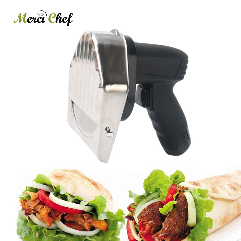 Stainless Steel Kebab Slicer Meat Shawarma Doner Knife Turkey Electric Cutting Meat Food Machine Kitchen Knives Cutter