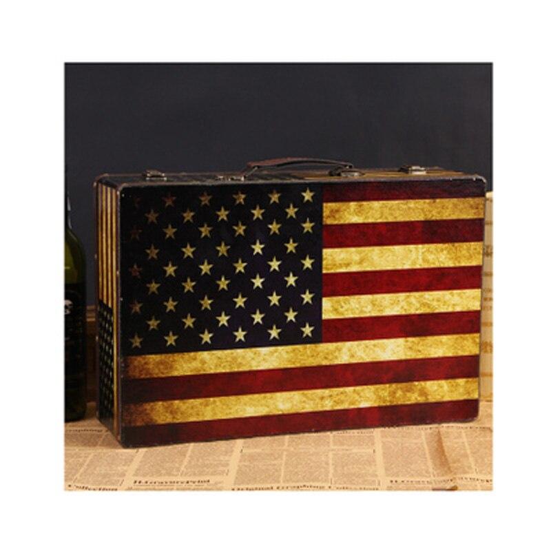 Boîte de rangement décorative en bois Antique