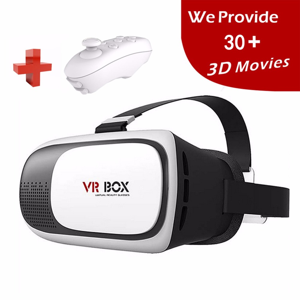 <font><b>2016</b></font> <font><b>VR</b></font> <font><b>Google</b></font> <font><b>Cardboard</b></font> 3D Movie Glasses <font><b>VR</b></font> <font><b>BOX</b></font> <font><b>II</b></font> <font><b>2.0</b></font> <font><b>Version</b></font> Virtual Reality 3D Galasses+Bluetooth Remote Controller